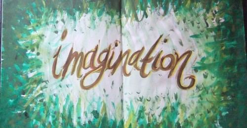 imagination text paint